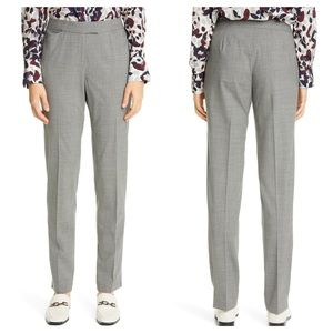 Lafayette 148 Irving Gray Skinny Stretch Wool
